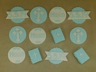 12 Christening Cupcake Toppers